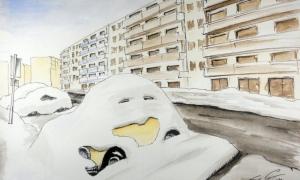 vw in sopron under snow
