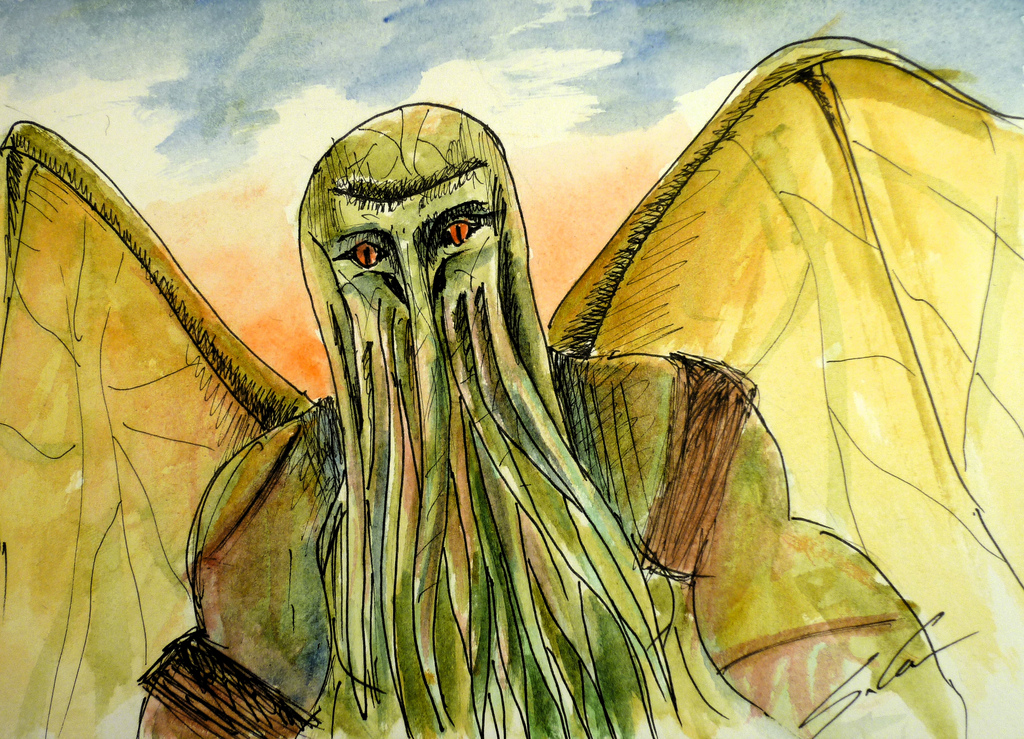 gabor-suveg-painting-libraria-cthulhu